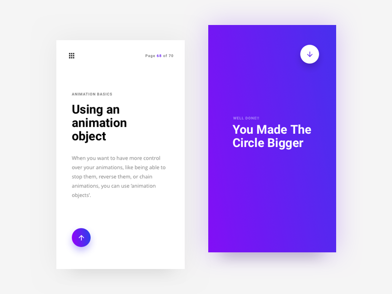 Circle grow typography ui framer