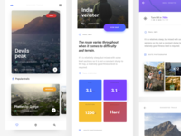 Hiking UI kit.