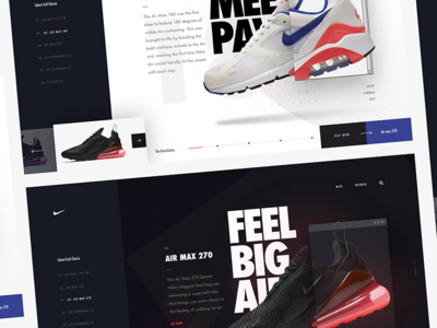 Happy Air Max day! landing ui website nike day max air