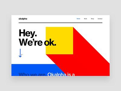 Okalpha Website makereign webflow interaction sketch web typography ui