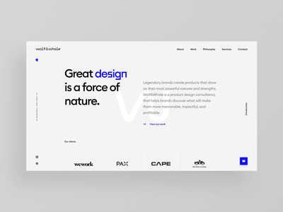 Wolf & Whale Website makereign animation interaction web typography ui