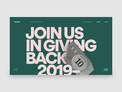 Giving Back webflow 3d makereign web typography ui