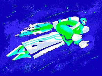 Let's go! business magazine startup inventor jetpack sky space procreate inc.russia sketch illustration