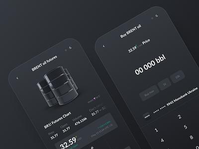 Trading App futures apple iphone ios oils oil trading app trading investing investment app uiux ui design