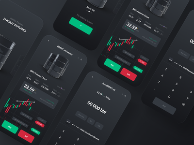Trading App Oil redesigned mobile design bitcoin futures iphone ios ux trading app trading redesign investing investment app uiux ui design