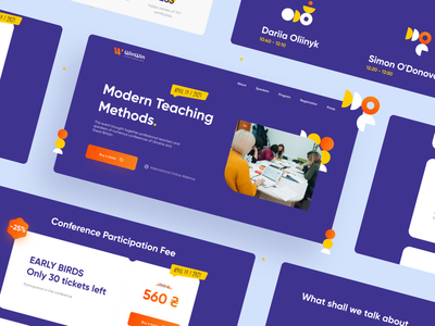 WinWin Education - Landing Page education events web design english school school landing page illustration app website web uiux ui design