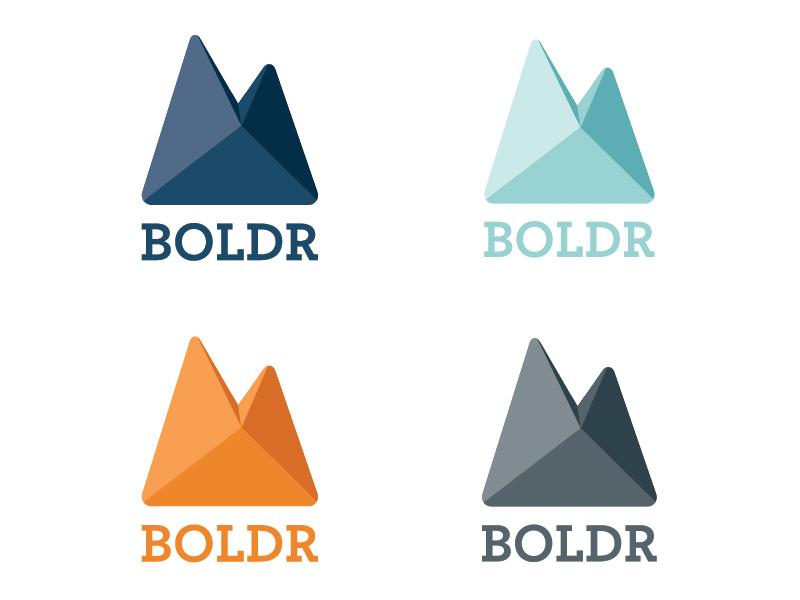 BOLDR Logo Progress logo branding climbing shadow color rock bouldering