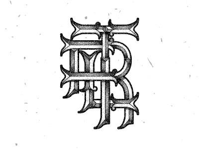 Ltr Monogram monogram lettering typo