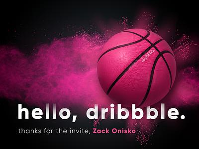 hello, dribbble typography photoshop design