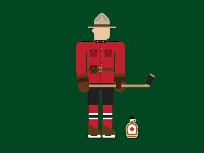 Happy Canada Day/Canada 150! hockey mountie canada 150 canada icon illustration