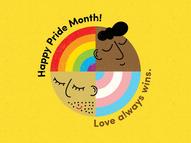 Pride Month 2019 transgender rainbow pride month pride design icon illustration