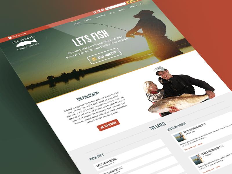 New Georgia Fishing Company Homepage orange outdoors