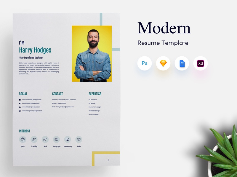 3 Page Modern CV Resume Template By Getresumeco On Dribbble