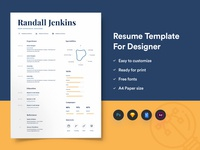 Resume Template For Designers With Portfolio