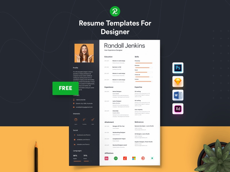 Free Resume Template For Designer ux user experience designer template skills resume for designer professional personal resume modern resume modern layered psd free sketch resume free resume for designer free docx resume free cv docx designer cv curriculum vitae cover letter