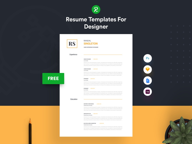Corporate Resume Template Free Download By Getresume Co Dribbble