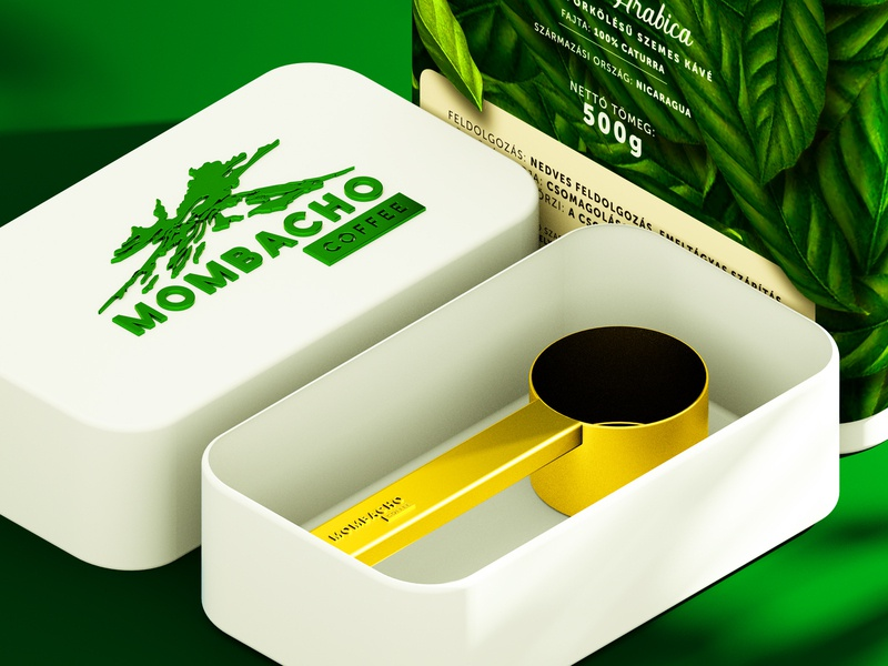 Mombacho Coffee branding and packaging design
