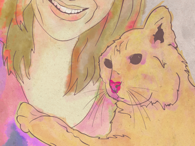 Pet portrait digital art art digital watercolour animal cat