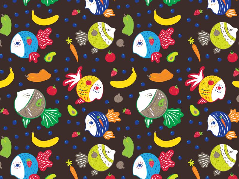 Pattern veggie heads