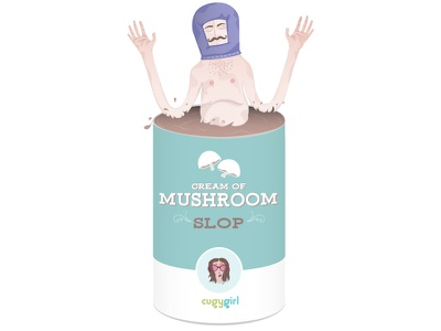 Cream Of Mushroom Slop Cleanse humor humorous character design character digital art art illustrator vectornator vector digital illustration