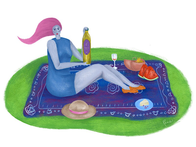 Picnic procreate picnic digital illustration digital painting digital art