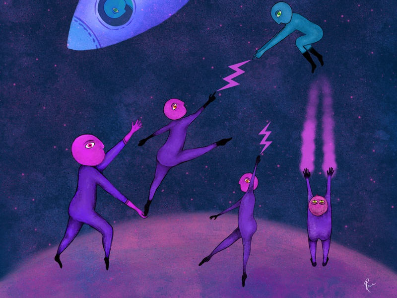 Space War rocketship fighters spaceart space procreateapp procreate ipadpro art colourful digital art character design digital illustration