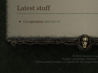 Game website footer menu fantasy rpg game website design template dark footer