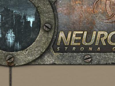 Game website - top fragment metal rust dark template design website game rpg postnuke top header