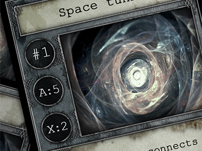 Game cards #2 print power space wood rpg sci-fi cards game future metal rust energy portal