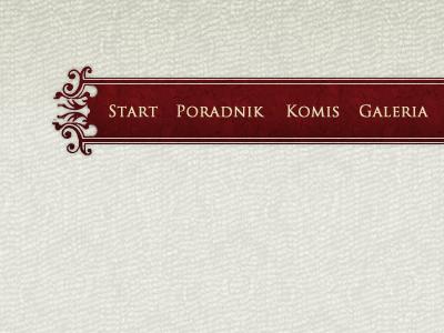 Menu concept menu ornament concept website template