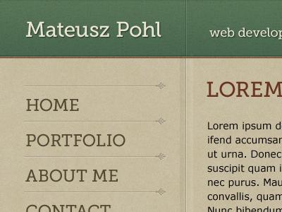 New online home - WIP portfolio website home showcase template design menu paper