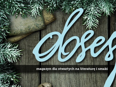 Obsesje (obsessions) - magazine cover magazine cover winter design wood snow print