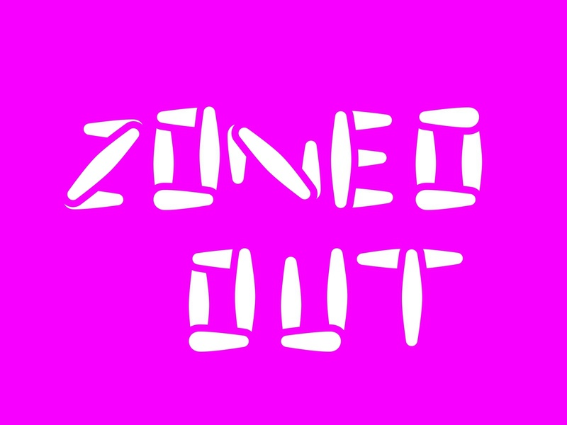 Zoned Out graffitti type design font lettering typography