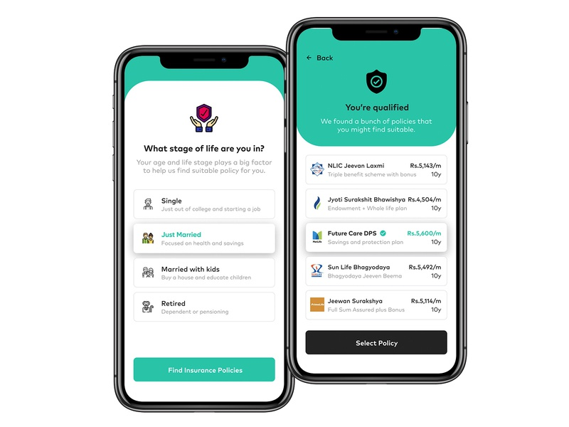 Pick some Insurance yo premium banking finance insurance ios 13 iphone app ios app ios design iphone 11 ui design ux design