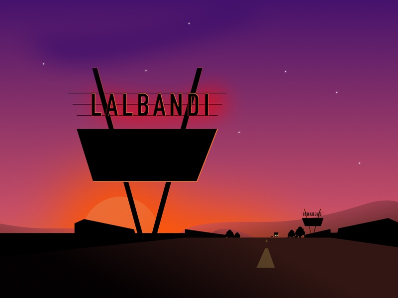 An evening in Lalbandi sketch terai nepal illustration gradient artwork art vector night evening