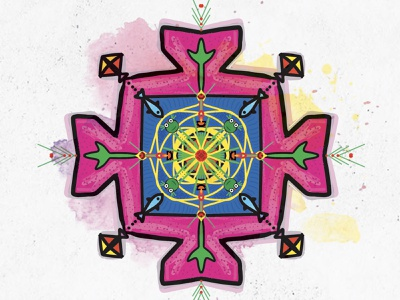 Happy Dashain procreate app procreateapp ipad applepencil buddhist hindu festival dashain greeting card mandala art procreate greeting