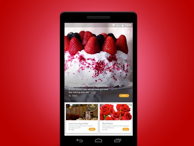 Romantic Gift App Concept sketch ui material design android