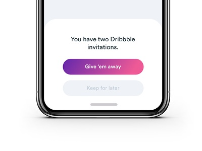 Two dribbble invites typography drafts prospects invitation dribbbleinvites invites
