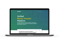 Money Transfer Platform Landing Page