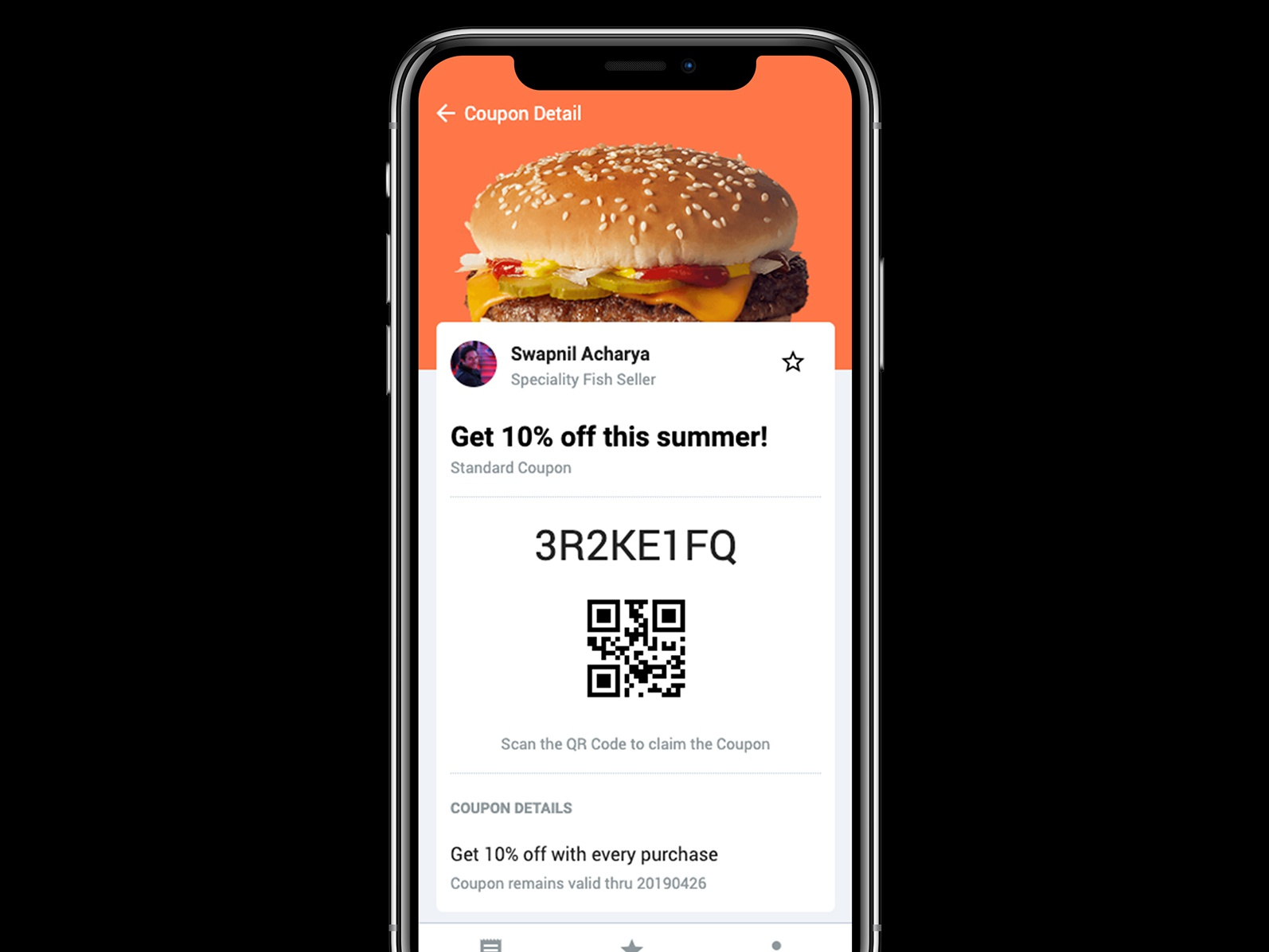Have some cheeseburger scan qr code deals coupons mobile notch ios12 ios app iphone app mobile app ios cheese burger