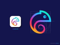 Chameleon Logo, Golden Ratio