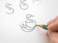 duck icon sketch
