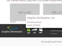 Graphic Dimensions Footer Wip