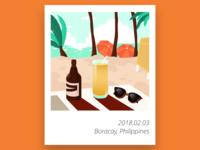 Yummy holidays in Boracay