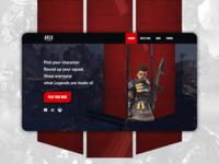 Apex Legends website redesign