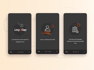 Onboarding Design language app design illustrator flatdesign onboarding onboarding ui app photoshop ui