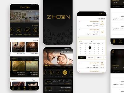 Beauty Salon Booking App Design mobile app application app design dark theme flatdesign beauty salon booking app xd photoshop ux ui