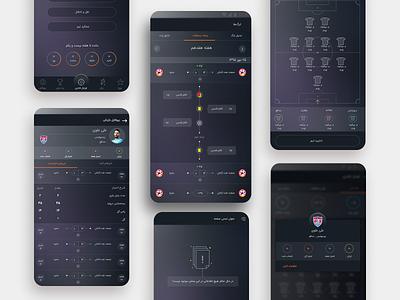 Football fantasy game dailyui application football game football app game dark theme dark app ux ui app design flatdesign xd photoshop