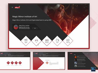 An institute website design web design website ux design responsive webdesign ui photoshop dribbble