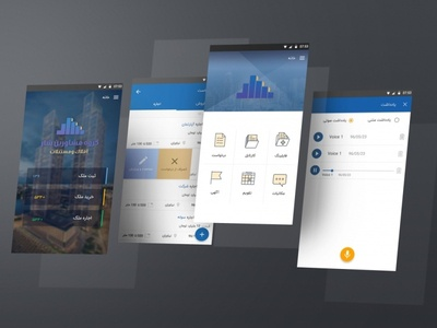 Real state agent mobile app flatdesign ux application app design mobile dribbble photoshop ui